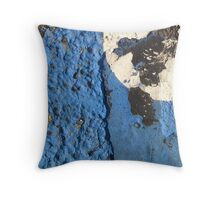 Blue Asphalt 02 Throw Pillow