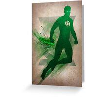 The Green Lantern Greeting Card