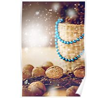 Christmas Decorations with Walnuts Poster
