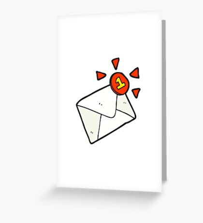 cartoon email message Greeting Card