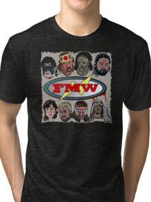 FMW Tribute - Terry Funk, Sabu, Hayabusa, Onita + more Tri-blend T-Shirt