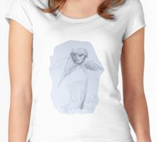 Harpyia (Original Art Drawing by Alice Iordache) Women's Fitted Scoop T-Shirt