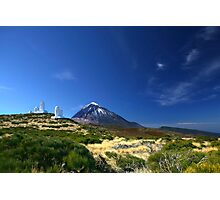 Teide Mountain Blue Photographic Print