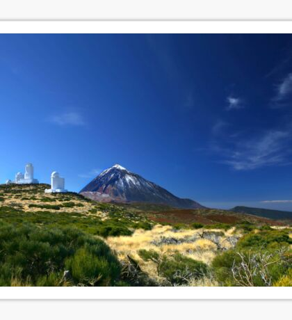 Teide Mountain Blue Sticker