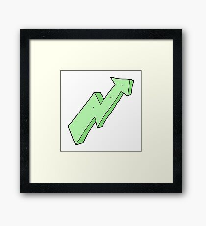 cartoon arrow up trend Framed Print