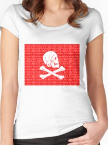 Henry Every pirate flag x Japanese box logo   Women's Fitted Scoop T-Shirt