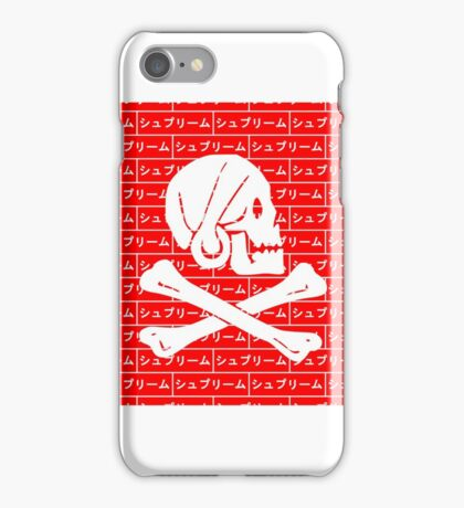 Henry Every pirate flag x Japanese box logo   iPhone Case/Skin