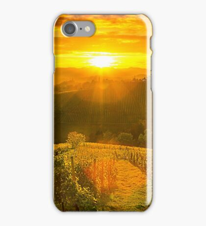 Sunset in the hills of styrian  tuscany iPhone Case/Skin