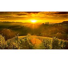 Sunset in the hills of styrian  tuscany Photographic Print