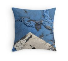 Blue Asphalt 03B Throw Pillow