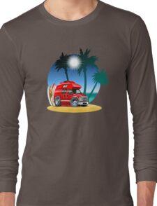 Cartoon Camper Long Sleeve T-Shirt