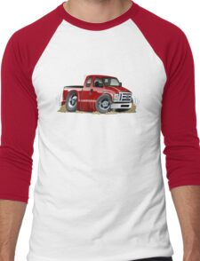 cartoon muscle pickup Men's Baseball ¾ T-Shirt