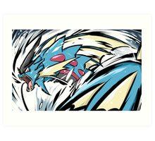 Mega Gyarados | Aqua Tail Art Print