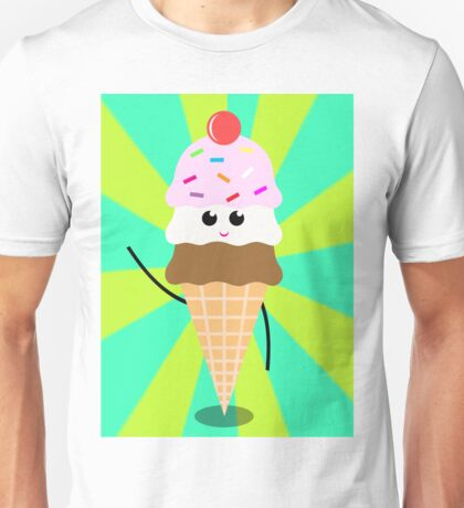 Ice Cream Pop Art Unisex T-Shirt
