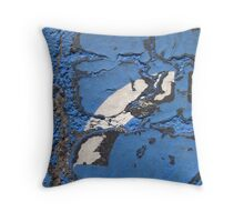 Blue Asphalt 04B Throw Pillow