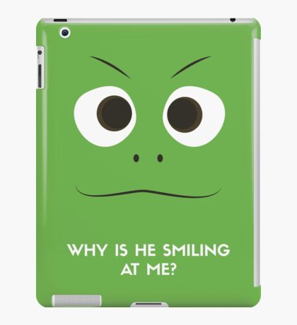 Pascal Minimalistic Design - Why is he staring at me? iPad Case/Skin
