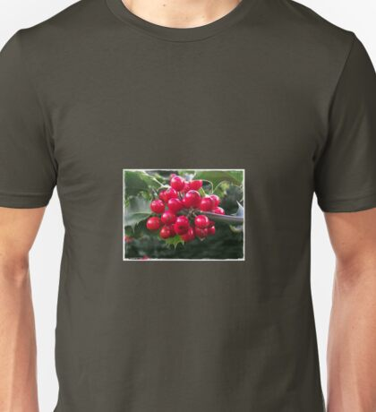 Winter Holly Unisex T-Shirt