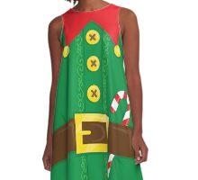 Xmas Elf Belly A-Line Dress