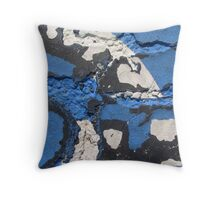 Blue Asphalt 06 Throw Pillow