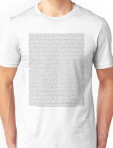 every Twenty One Pilots song/lyric off Self Titled Unisex T-Shirt
