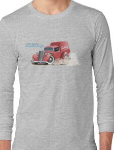Cartoon retro delivery van Long Sleeve T-Shirt