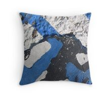 Blue Asphalt 07B Throw Pillow
