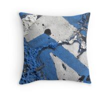 Blue Asphalt 08A Throw Pillow