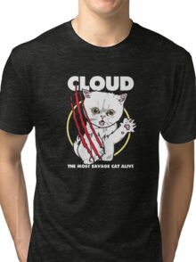 Cloud the most savage cat alive Tri-blend T-Shirt