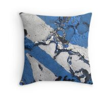 Blue Asphalt 08B Throw Pillow