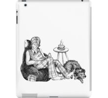 Remus, a Cup of Tea, and a Black Dog iPad Case/Skin