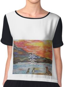 Stay An Hour On My Heart I Miss You Quote  Chiffon Top