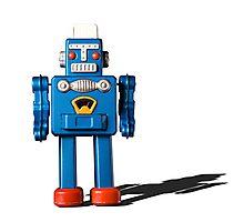 Azure robot Photographic Print