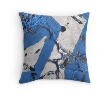 Blue Asphalt 08C Throw Pillow