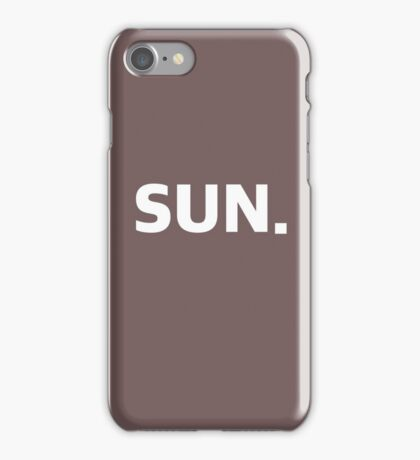 SUNDAY. iPhone Case/Skin