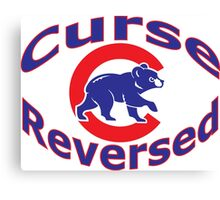 Cubs Curse shirt 2.0 Canvas Print