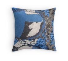 Blue Asphalt 10A Throw Pillow