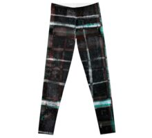 abstract  plaid cage Leggings