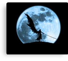 One winged angel in the night Canvas Print