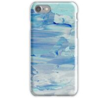 Abstract Painting in Pastels Blues and Greens iPhone Case/Skin