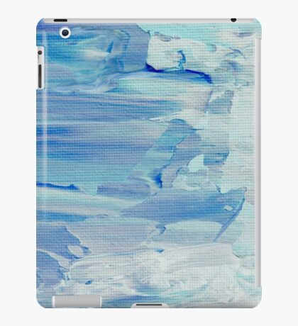 Abstract Painting in Pastels Blues and Greens iPad Case/Skin
