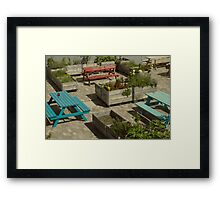 Colorful tables Framed Print