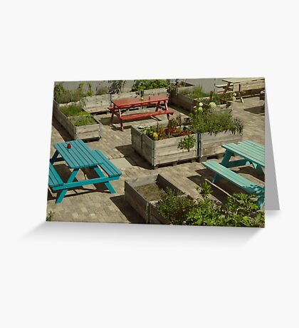 Colorful tables Greeting Card