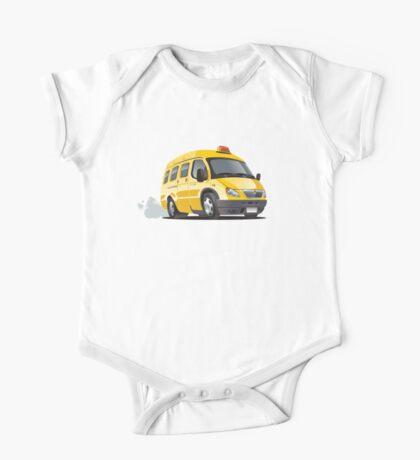 cartoon taxi bus One Piece - Short Sleeve