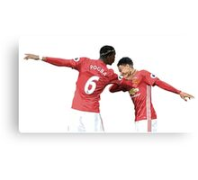 Pogba Lingard - Manchester United - Dab Canvas Print
