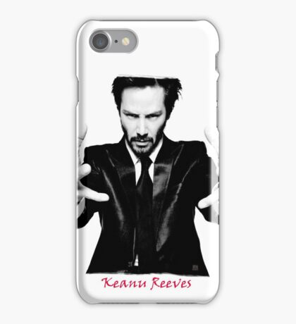 Keanu Reeves the Actor Black and White iPhone Case/Skin