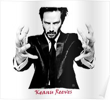 Keanu Reeves the Actor Black and White Poster