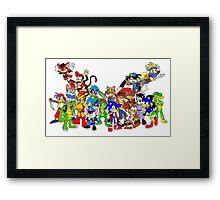 Game Critters Framed Print
