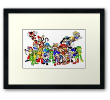 Game Critters Framed Print