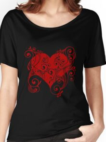 Red Tribal Heart Women's Relaxed Fit T-Shirt
