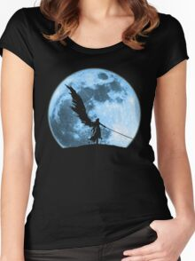 One winged angel in the night Women's Fitted Scoop T-Shirt